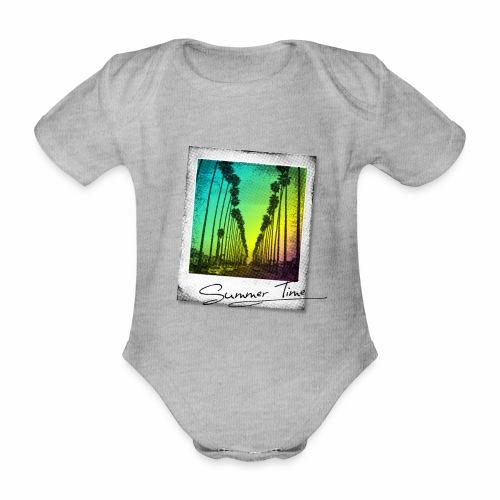 Summer Time - Organic Short-sleeved Baby Bodysuit