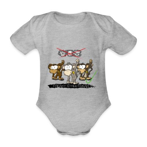 Protest-Äffchen 2 - Baby Bio-Kurzarm-Body