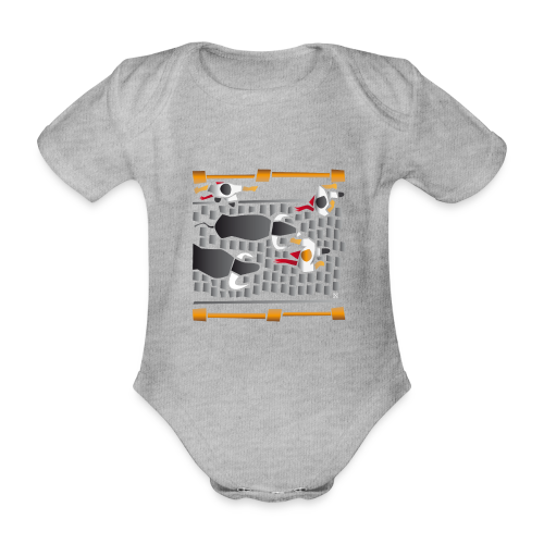 El encierro - Body orgánico de maga corta para bebé