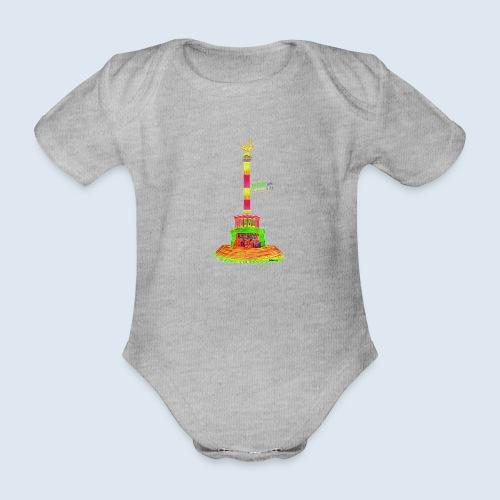 Siegessäule Berlin PopArt ickeshop BachBilder - Baby Bio-Kurzarm-Body