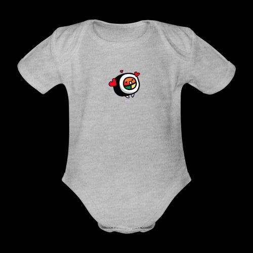 kleine Rolle - Baby Bio-Kurzarm-Body