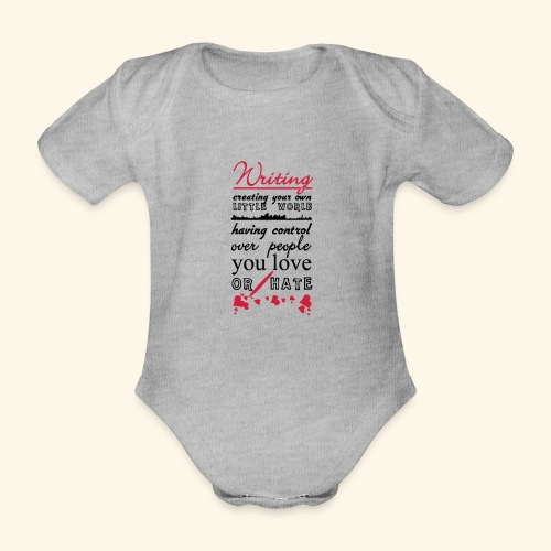 Writing - Organic Short-sleeved Baby Bodysuit