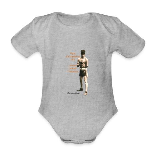 Fight Antiziganism like Johann Rukeli Trollmann - Organic Short-sleeved Baby Bodysuit