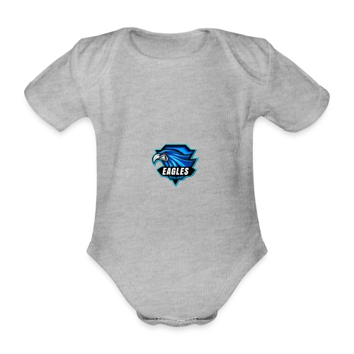 logo eagle - Body ecologico per neonato a manica corta