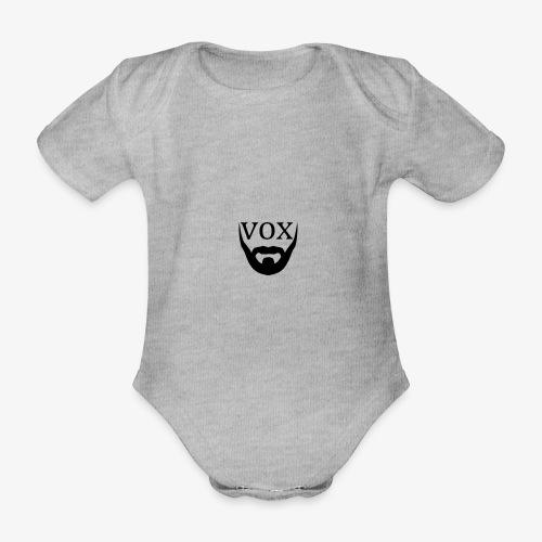 Logo Vox Nero - Body ecologico per neonato a manica corta