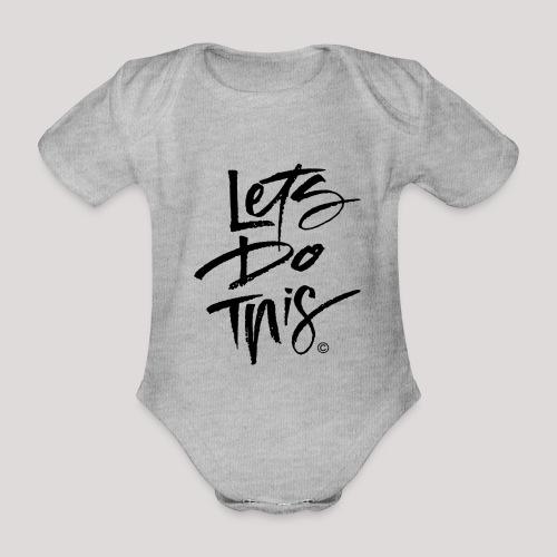 LDT Clear MASTER BLK - Organic Short-sleeved Baby Bodysuit