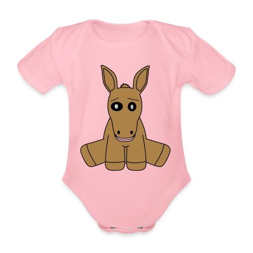 horse - Body ecologico per neonato a manica corta
