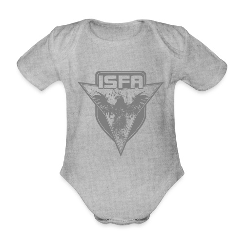 isfa logo 1c grau - Baby Bio-Kurzarm-Body