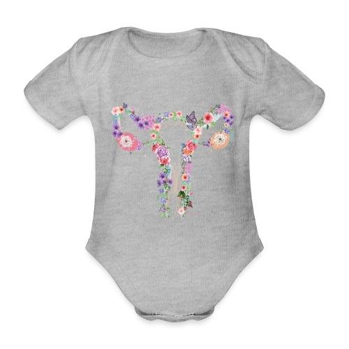 Blumen Uterus - Baby Bio-Kurzarm-Body