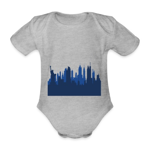 Manhattan Skyline - Body Bébé bio manches courtes