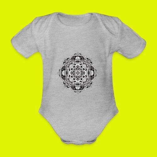 Mandala - Body ecologico per neonato a manica corta