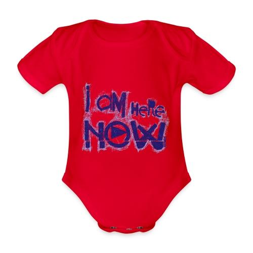 I am here now - Baby bio-rompertje met korte mouwen