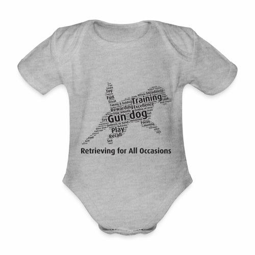 Retrieving for All Occasions wordcloud svart - Ekologisk kortärmad babybody