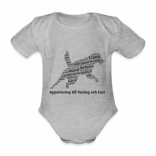 Apportering till vardag och fest wordcloud svart - Ekologisk kortärmad babybody