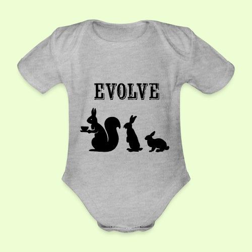 EvolveBunny - Baby bio-rompertje met korte mouwen