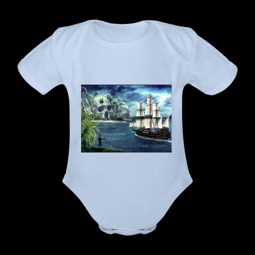 Isola - Body ecologico per neonato a manica corta
