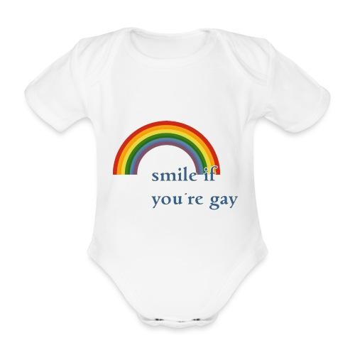 Lächle wenn du schwul bist   Vintage   LGBT  Pride - Baby Bio-Kurzarm-Body