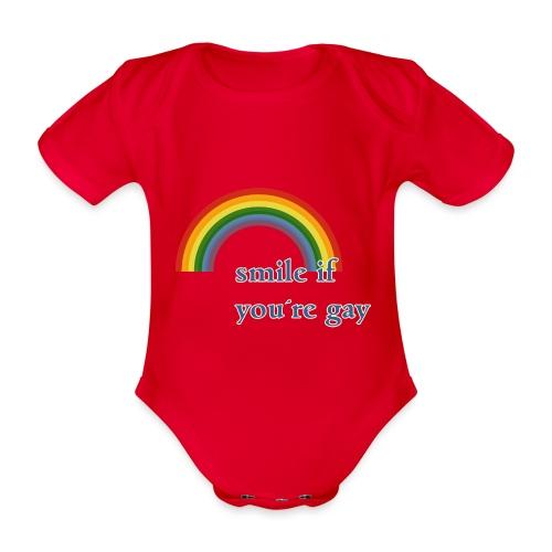 Lächle wenn du schwul bist | Vintage | LGBT |Pride - Baby Bio-Kurzarm-Body