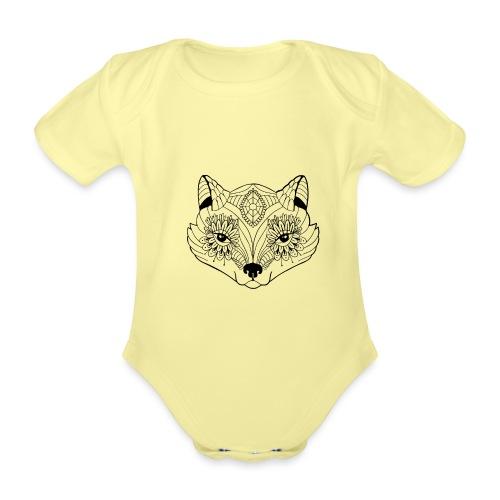 mandalafox - Vauvan lyhythihainen luomu-body
