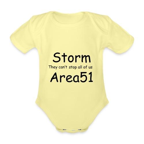 Storm Area 51 - Organic Short-sleeved Baby Bodysuit