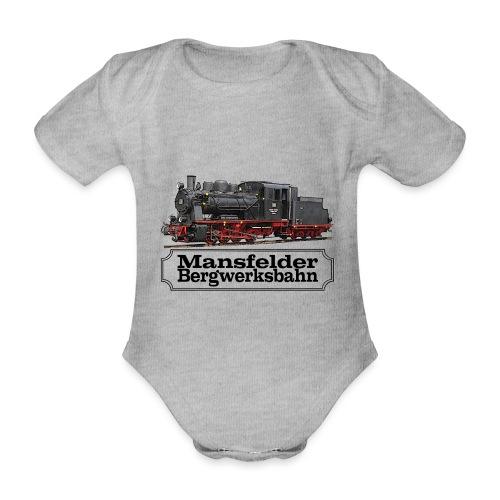 mansfelder bergwerksbahn dampflok 1 - Baby Bio-Kurzarm-Body