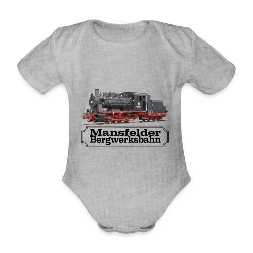mansfelder bergwerksbahn dampflok 3 - Baby Bio-Kurzarm-Body