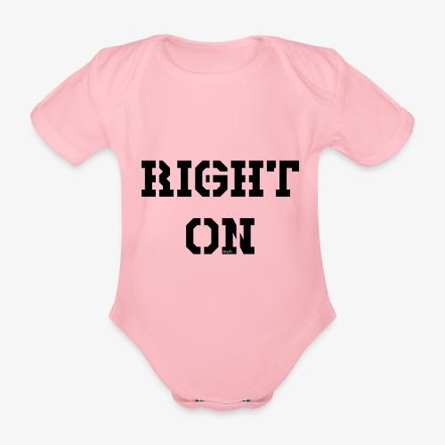 Right On - black - Baby Bio-Kurzarm-Body