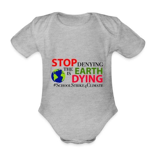 School Strike 4 Climate - Baby bio-rompertje met korte mouwen