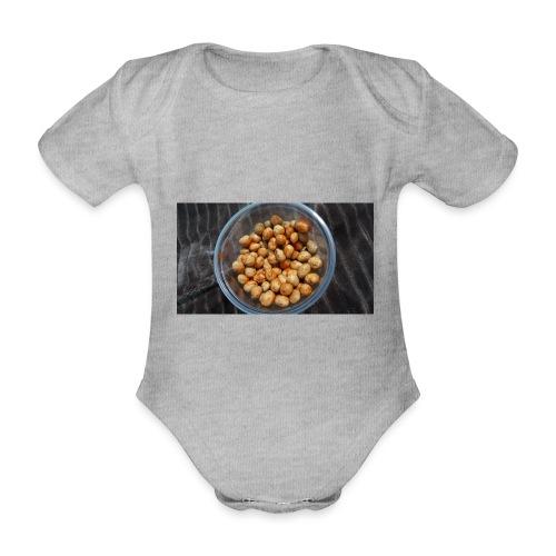 Cacahuate - Body orgánico de maga corta para bebé