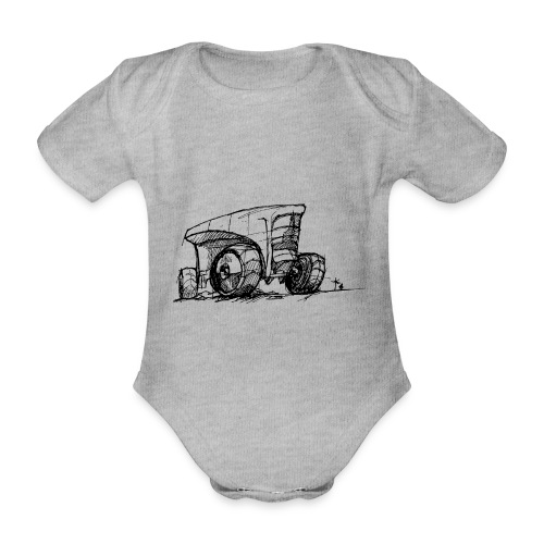 Futuristic design tractor - Organic Short-sleeved Baby Bodysuit