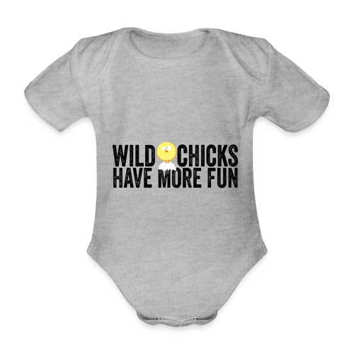Wild Chicks helle Shirts - Baby Bio-Kurzarm-Body