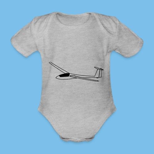 Segelflieger Geschenk Segelflugzeug gleiten tshirt - Baby Bio-Kurzarm-Body