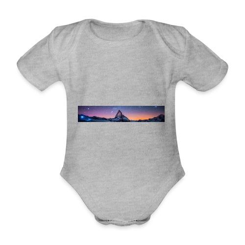 Mountain sky - Baby Bio-Kurzarm-Body