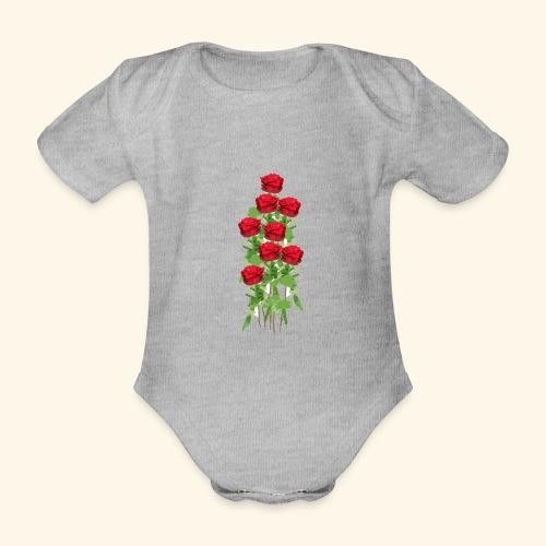 rote rosen - Baby Bio-Kurzarm-Body