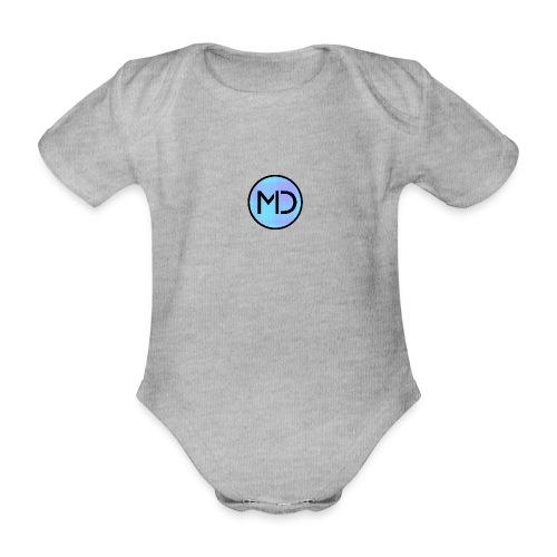 MD Blue Fibre Trans - Organic Short-sleeved Baby Bodysuit
