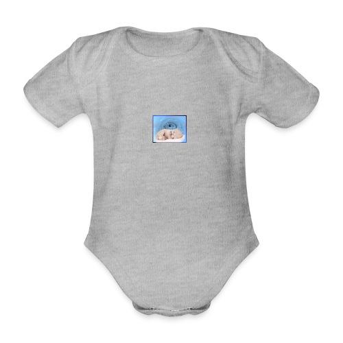 poesje 1 - Baby bio-rompertje met korte mouwen