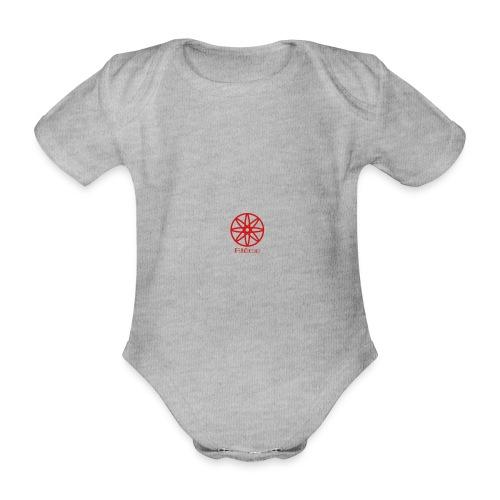La boule d'atôme en rouge - Baby Bio-Kurzarm-Body