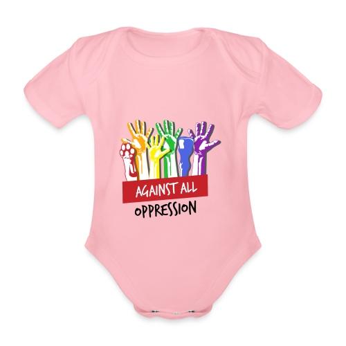 Against All Oppression - Baby bio-rompertje met korte mouwen