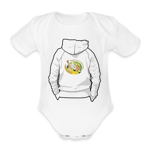 hoodyback - Baby bio-rompertje met korte mouwen