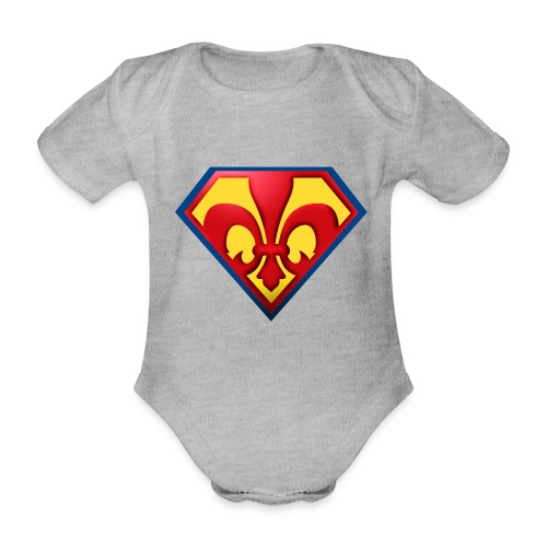 Fabulous Scout - Lilie im Wappen - Baby Bio-Kurzarm-Body