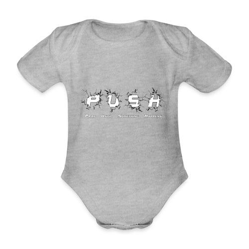 PUSH WHITE TEE - Baby Bio-Kurzarm-Body