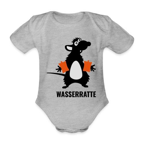 Wasserratte mit Schwimmflügeln - Baby Bio-Kurzarm-Body