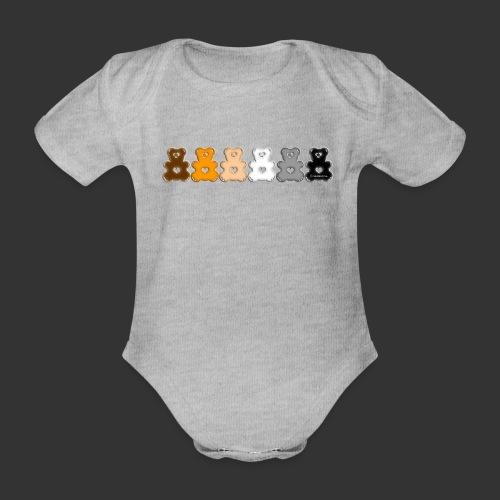 Bärenlust Regen-Bären-Bogen Bären-Reihe - Baby Bio-Kurzarm-Body