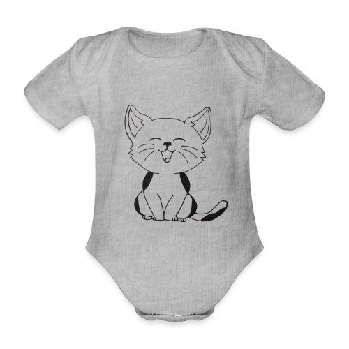 kitten - Baby bio-rompertje met korte mouwen