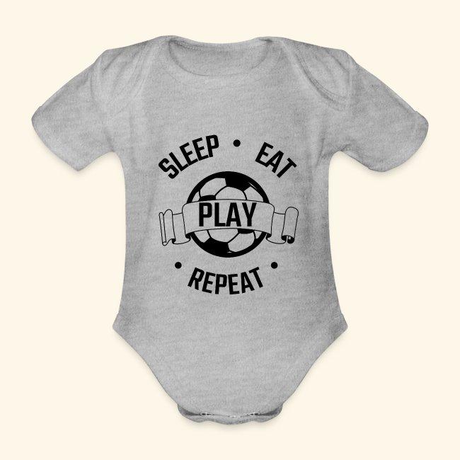 FOOTBALL soccer - Eat sleep play repeat - ballon