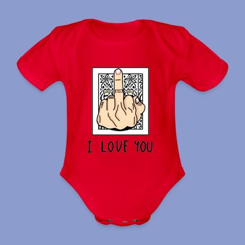 I LOVE YOU - Body ecologico per neonato a manica corta
