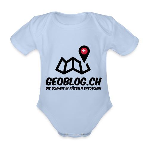 Logo+Schriftzug-hoch - Baby Bio-Kurzarm-Body