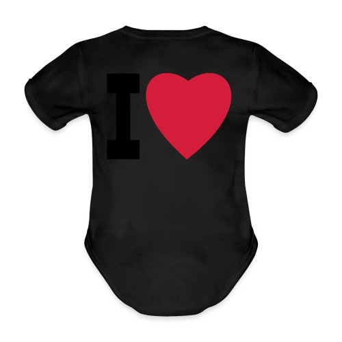 create your own I LOVE clothing and stuff - Organic Short-sleeved Baby Bodysuit
