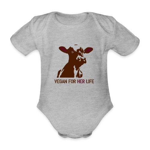 vegan for her life - Baby Bio-Kurzarm-Body