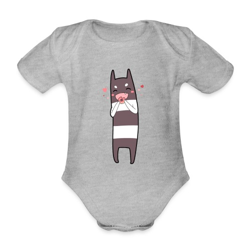 Donut Monster - Organic Short-sleeved Baby Bodysuit